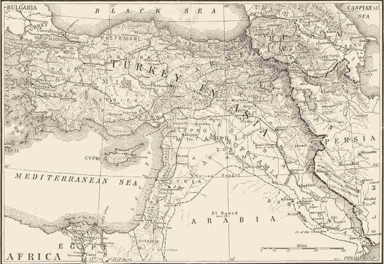 Map of the Ancient Near East Before The Coining Of The Phrase -- From The National Geographic Magazine (1916)