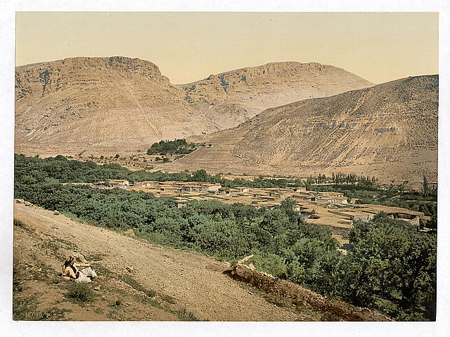 High Quality Photochrome (Photochrom) Print of Suk-Wady-Barada (Abila)