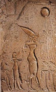 Akhenaton -- Nefertiti and One of Their Daughters (Kathleen Jenks)