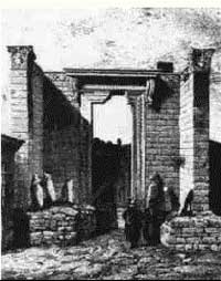 The entrance to the Roman Augustus Temple (25 BC)