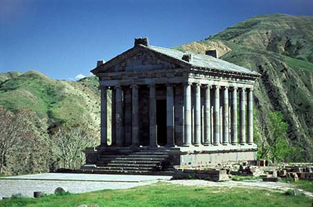 Ancient Roman Pagan Temple of Garni Near Yerevan (Capital of Armenia)
