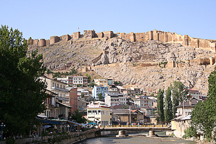 Bayburt Castle and Coruh River