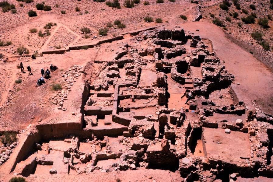 Aerial View -- Beidha Excavations