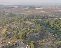 Aerial Shot of Bethsaida Looking South -- University of Nebraska at Omaha 2001 Excavations