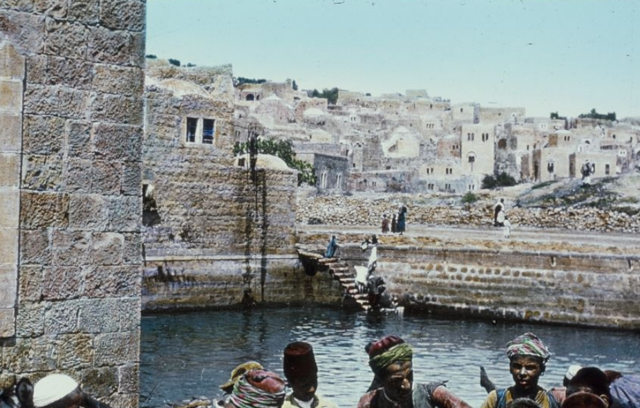 King David's Pool in Hebron (Library of Congress)