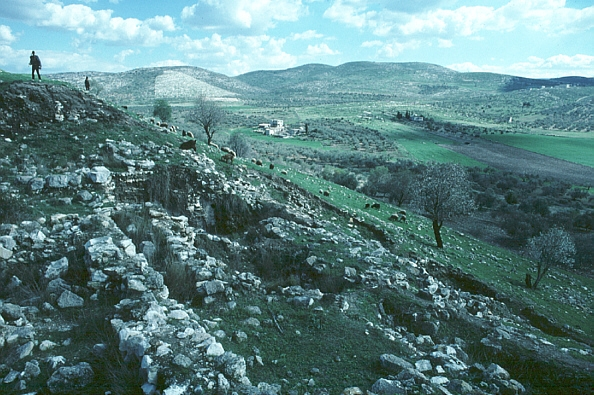 View to Excavations on the South Slope of the Tel