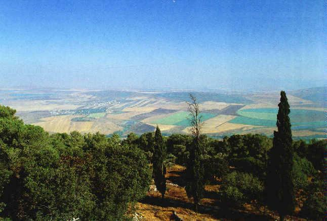 A view from the summit of Mount Tabor with the Valley of Jezreel -- the site of endtime prophecies (Zion Ministries)