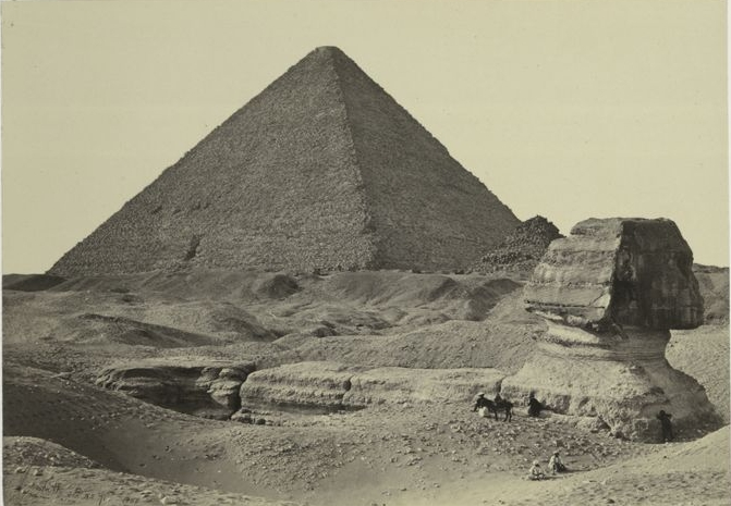 The Sphinx and Great Pyramid at Giza by Francis Frith (1857)
