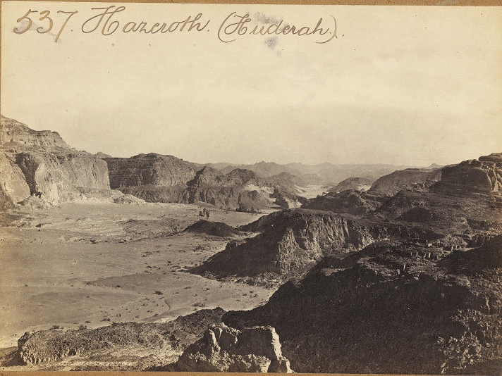 Hazeroth (Huderah) in Sinai by Francis Frith Circa 1850 (Victoria and Albert Museum)