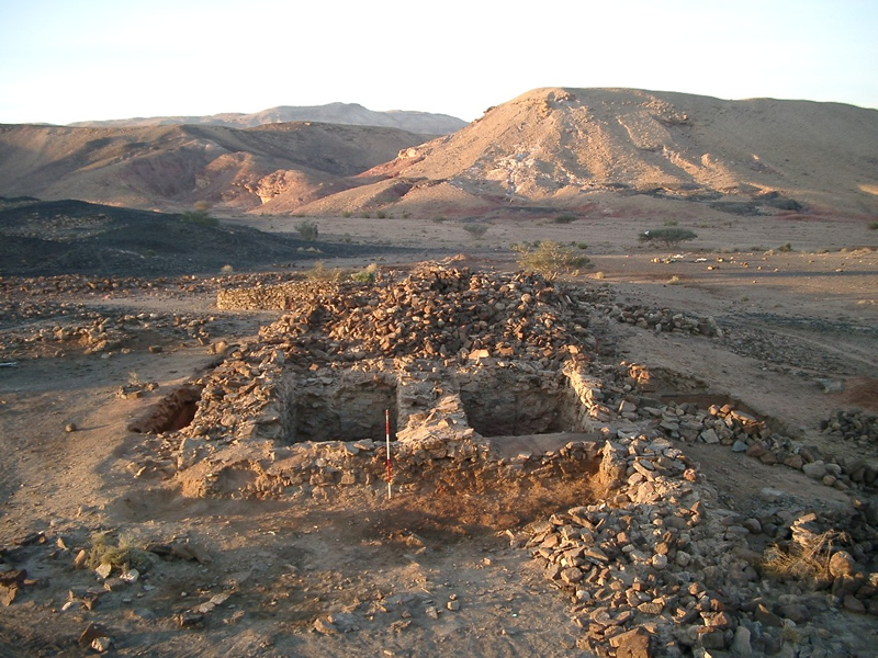 Excavation at the gate of Khirbat en-Nahas in what was Ancient Edom ... Part of the Jabal Hamrat Fidan Project carried out under the auspices of the University of California in San Diego and the Department of Antiquities of Jordan