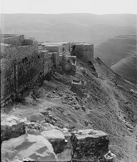 Ramparts of Kerak -- American Colony (1914)