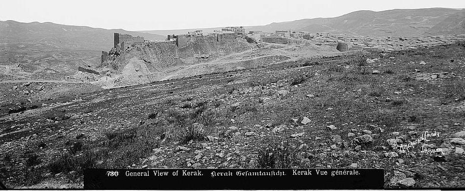 Aerial View Qir Moav -- American Colony (1914)