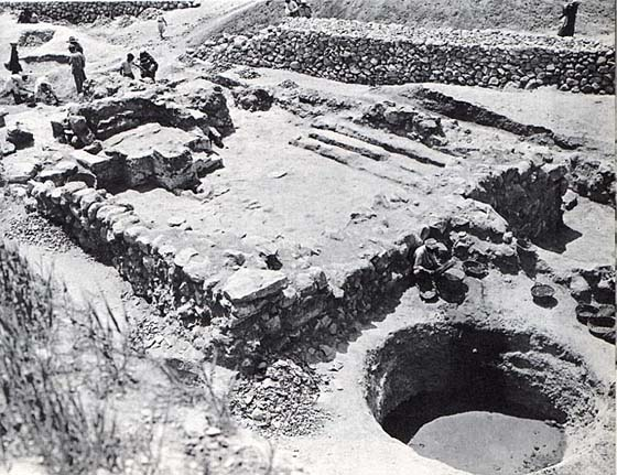 The remains of the temple burnt with the rest of the city in about 1200 BC