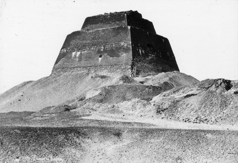 Step Pyramid: Brooklyn Museum Archives -- Lantern Slide Collection