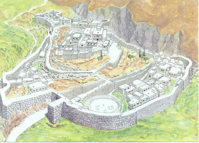 Reconstruction of the Greek City of Mycenae