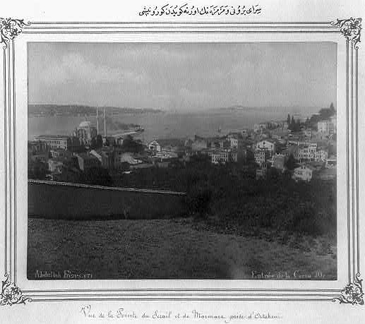 View of the Sarayburnu and Sea of Marmara from Ortaköy by Abdullah Frères (1880 and 1893) in the Library of Congress