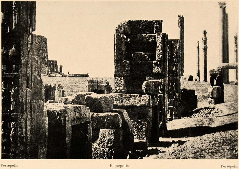 Ancient Persepolis (Pârsa) in Fars Province in Iran