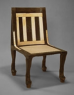 Chair of Renyseneb : Circa 1450 BC : Mid-Dynasty 18 : New Kingdom : Ebony and Ivory (The Metropolitan Museum of Art)