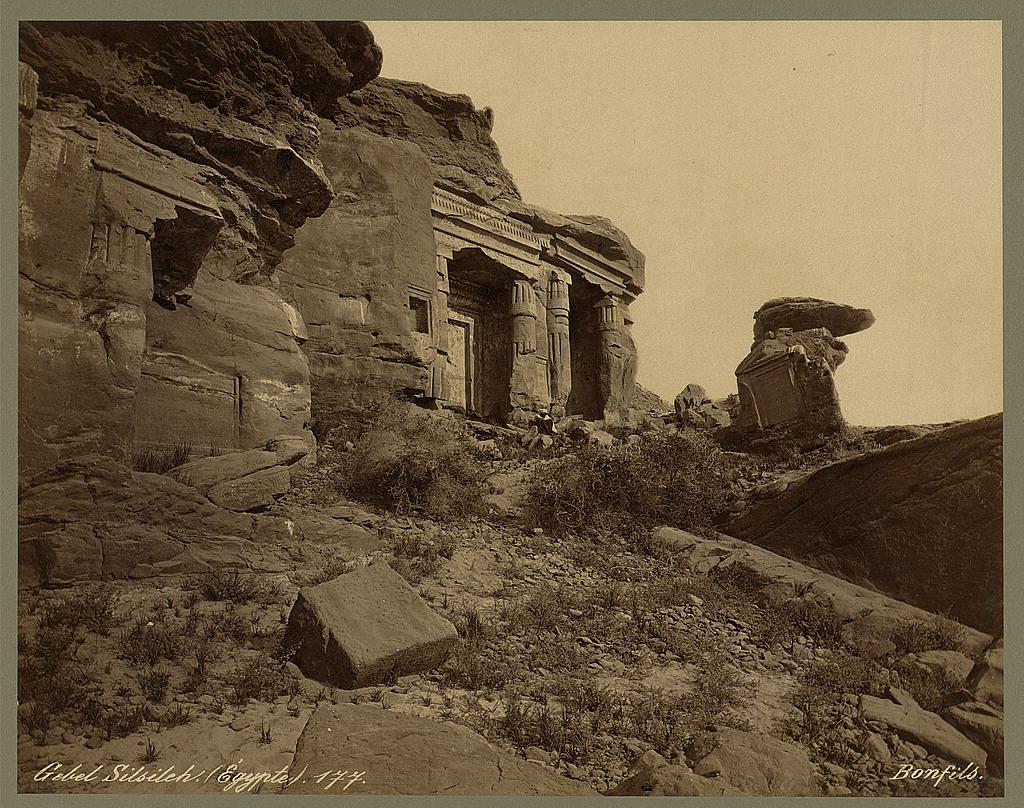 Gebel Silsileh (Égypte): Photographed by Maison Bonfils Circa 1880