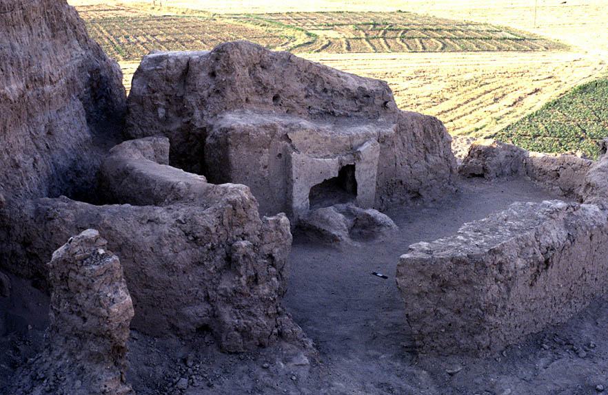 Mudbrick temple constructed during the Parthian Period