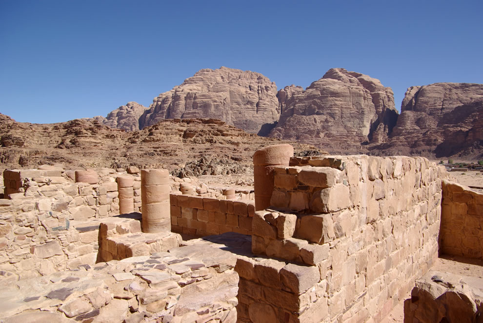 Ruins of a Nabataean Temple in Wadi Rum