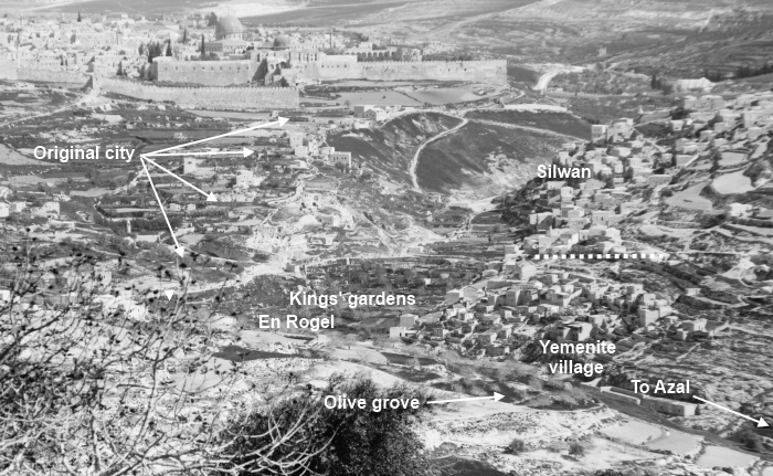Ancient Silwan (Shiloah) [Siloam] in Israel and The City of David